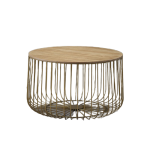 Gold Birdcage Coffee Table