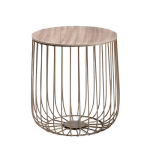 Gold Birdcage Side Table